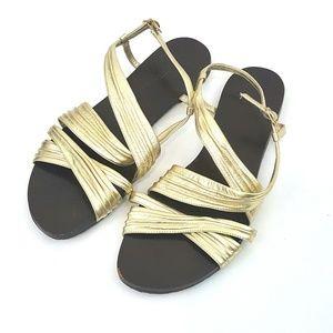 Cole Haan Gold Strap Sandals